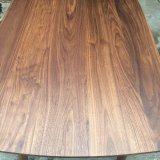 型の黒いクルミの木製のダイニングテーブルはホーム(CG-032)のためにセットした