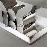 金属のコーヒーテーブルが付いている高品質の大理石表