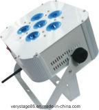 6X10W RGBW en 1 IGUALDAD plana sin hilos de la batería LED puede Party la luz