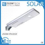 10W a intégré tous dans un réverbère solaire de DEL avec le panneau solaire