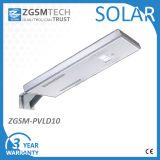 10W integrierte alle in einem Solar-LED-Straßenlaternemit Sonnenkollektor