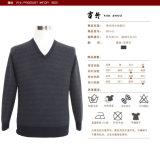人のヤクVの首の長い袖のプルオーバーのばねの秋のセーター