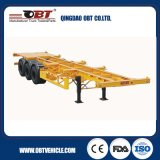 Tri-Axles Skeletal Container Truck Semi Trailer mit Air Suspension