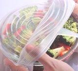 8 breiden de pakken van de Opnieuw te gebruiken Super Rek Dekking van het Voedsel van het Silicone de Verzegelende uit