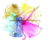 Изготовленный на заказ цветастый выдвиженческий мешок Organza подарка