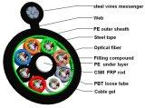 Cable óptico del miembro de fuerza del no metal de GYFTC8S