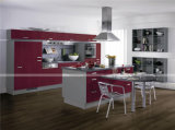 Küche Furniture Red Kitchen Cabinets Made in China UVKitchen Cabinet