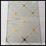 4mm Clear Decorative Glass с Golden Pattern