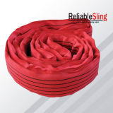 Uno-manera Webbing Sling/Lifting Belt de 50m m Red Polyester