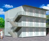 Casa prefabricada del envase del bajo costo para la casa/el dormitorio/el hotel vivos