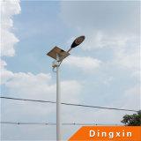luz de rua solar da altura 60W de 8m Pólo com bateria de lítio