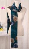 Jolie écharpe de mode de pivoine de configuration de grand châle neuf de fleurs