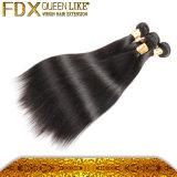 Schöne seidige gerades Haar-natürliche Farbe kann gefärbte chinesische Menschenhaar-Extensionen sein