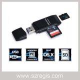 고속 USB 3.0 Sdxc + TF 결합 지능적인 메모리 카드 독자