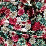 Double soie estampée du Jersey dans la configuration de fleur