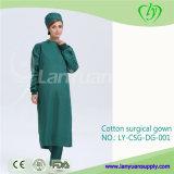 再使用可能な深緑色の綿の手術衣
