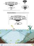 好気性の浮遊噴水