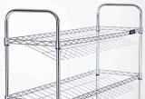 Salanted 4 Tiers ajustable Chrome Metal Shoe Rack (CJ-B1112)