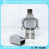 USB Flash Drive de Metal Robot do ouro com Logo (ZYF1194)