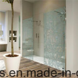 glace d'écran de salle de bains durcie par 12mm de 6mm 8mm 10mm