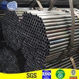 Tubo de acero redondo negro con diversas tallas
