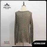 女性の高品質の方法広い首のセーター
