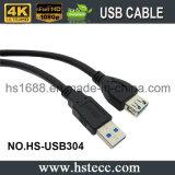 5 mètres de câble de remplissage de la vitesse USB 3.0 superbes noirs - M/F