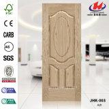 Piel de madera de la puerta del molde de la chapa de la ceniza del MDF de HDF