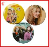 Round personalizado 2016 Plastic Tin Badge para Promotion (YH-TB004)
