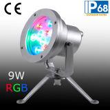 IP68 9W LED 수중 반점 빛, LED 수중 샘 빛
