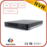 Nuovo H. 264 4MP/3MP Poe P2p Ahd Security DVR 16CH