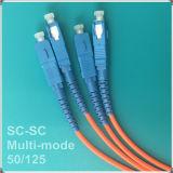 Sc-Sc cabo de remendo Multi-Mode da fibra óptica do PC Om2