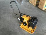 Motor de gasolina com o compressor da placa do tanque