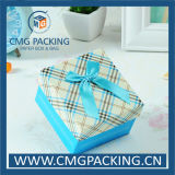 Pequeña caja de regalo impresa modificada para requisitos particulares con la cinta de seda (CMG-MAY-005)