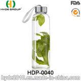 2016 de Draagbare Hoge Fles van het Water van het Glas Borosilicate, de Vrije Fles van het Water van het Glas BPA (hdp-0040)