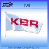 Drapeau national d'indicateur de pays avec le logo fait sur commande