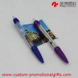 Crayon lecteur de bille en plastique promotionnel de drapeau de message de publicité de cadeau