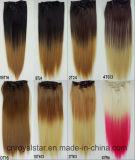 Clips droits de couleurs de pleine prolonge principale différente de cheveu dans la prolonge de cheveu