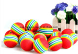 2016 Hot Sale Favorite Mignon Colorful fou promotionnel heureux EVA arc-en-Jouet Balle pour les enfants
