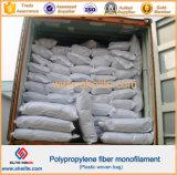 De Gegolfte Vezel van het Polypropyleen van pp Undee voor de Concrete Bouw van de Raad van het Cement van de Muur van de Vloer van het Cement