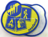 Emblema tecido máquina do remendo de pano da alta qualidade