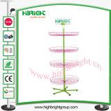 4 Reihe Ajustable Fußboden-stehender Draht-Korb-Spinner