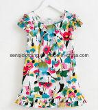Vestido do vestido da menina da forma no vestuário das crianças com fato do vestido
