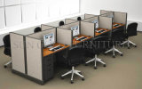 Furniture contemporain 2 Seater Office Workstation avec Glass Partition