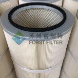 Filtro de aire del cartucho de la máquina de la arena del vacío del poliester de Forst