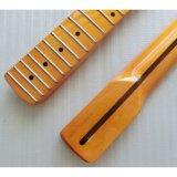완성되는 한 조각 캐나다 단풍나무 일렉트릭 기타 목