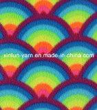 Tessuto legato degli abiti sportivi del panno morbido del tessuto di seta naturale del poliestere per l'indumento/strato/cappello