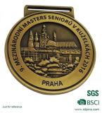 最もよい品質の金および銀のテニスのスポーツメダル