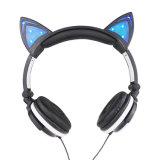 Auscultadores da orelha de gato de 2016 incandescência de venda quente & piscamento para meninas & miúdos quando Halloween & Natal