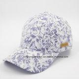 Бейсбольная кепка панели хлопка 6 качества, ткань печатание с Spandex